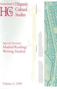 Volume 3 (1999) – Madrid Writing / Reading Madrid