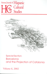 Volume 6 (2002) – Barcelona and the Projection of Catalonia